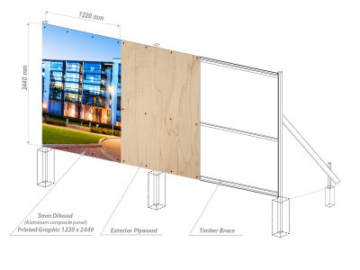 printed hoarding drawing uk