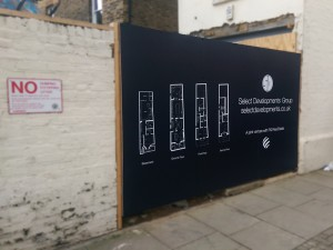 hoarding graphic london