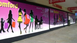 hoardings graphics east london
